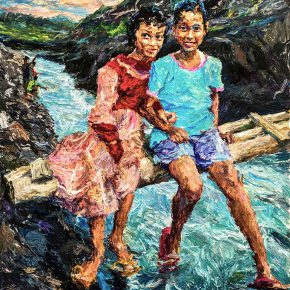 """07 Xie Dongming The Girl and the Boy 200 x 150 cm 2014  290x290 - """"SELF SPACE"""": Xie Dongming's Solo Exhibition Opened at the National Gallery of Indonesia"""