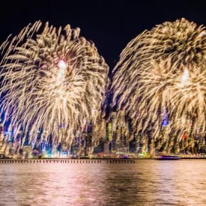 10 The New Year themed fireworks show on Hudson River