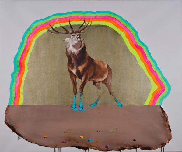 GAMA, Deer of Nine Colors XI, 2016; Mixed media, 100x120x3cm