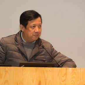 "01 Yu Ding, Chinese curator of ""The Myth of documenta"" and Dean of Institute of Arts Administration and Education at CAFA hosted the lecture"