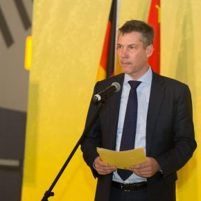 02 Enrico Brandt, Cultural Counselor at German Embassy in China delivered a speech