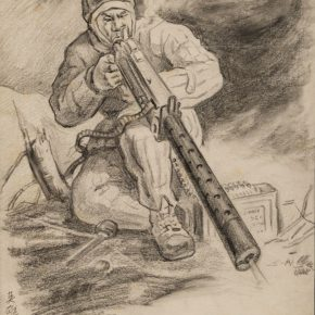 03 Wu Biduan The Hero Warrior 29 × 22 cm drawing on paper 1951 private collection of Wu Biduan 290x290 - Wu Biduan
