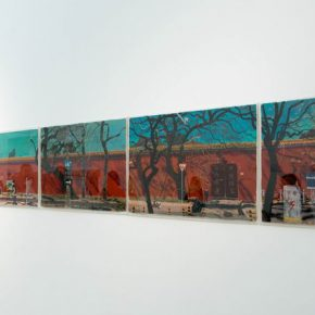 "05 Exhibition view of ""Jingshan Hill St."" A Painting Exhibition by Wang Yuping"