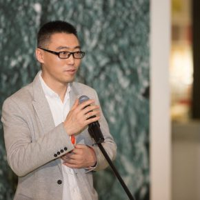 06 Wang Wei, Associated Professor and Director of the First Studio at the Department of Sculpture, CAFA delivered a speech