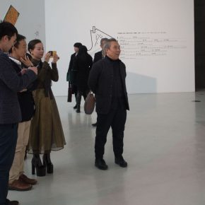 "09 Honored guests visited the exhibition 290x290 - ""Pictured Walls"" for ""Working Hard for Prosperity"": Collective Creation of the Department of Mural Painting, CAFA"