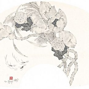 14 Yu Yue, Ink Lotus No.4, ink on paper, 66 x 30 cm, 2015