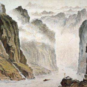 18 Wu Biduan, Three Gorges, 187 × 324 cm, color and ink on paper, 1973, in the collection of CPPCC