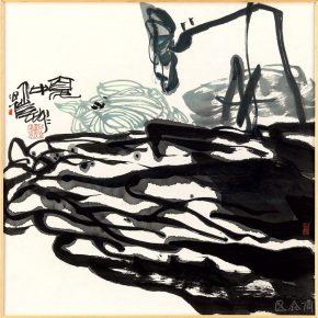 """20 Pan Gongkai, """"Midsummer"""", 68 x 68 cm, 2015"""