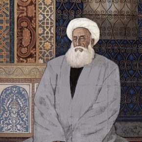 21 Wu Biduan, A Devout Imam, ink and color on paper, 152.5 x 105 cm, 1989, in the collection of National Art Museum of China