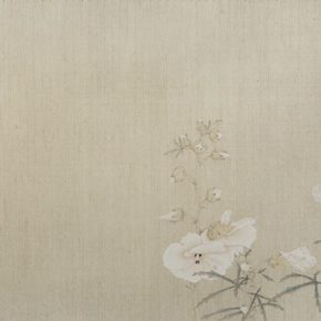 22 Gao Qian, The Butterfly Lingers Over the Flower, 41 x 76 cm