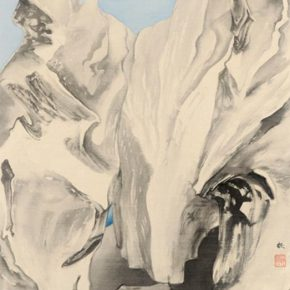 "23 Luo Ying Fantasy No.1 91 × 48.5 cm ink and color on silk 2016 290x290 - From Theory to Creation: ""Reason in Art"" as a Perspective of Ink Painting"