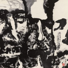 26 Wu Biduan, The Men in the Dream No.2, 42 x 52 cm, ink and color on paper, 1991, private collection of Wu Biduan