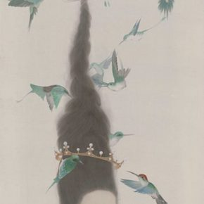 "28 Zhou Xue Travel • Dream series – An Angel is Singing 59 x 119 cm silk 2015 290x290 - From Theory to Creation: ""Reason in Art"" as a Perspective of Ink Painting"