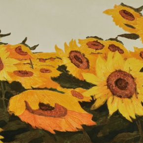 30 Wu Biduan, Sunflower Field, 38 × 69 cm, integrated print, 1984