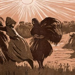 43 Wu Biduan, Harvest, 28.4 × 81.7 cm, linocut, 1958, in the collection of National Art Museum of China