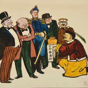 50 Wu Biduan, Unequal Treaties, 28 x 35 cm, comics, 1949, private collection of Wu Biduan