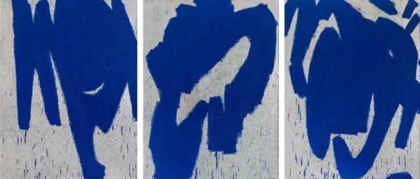 MA KELU, Blue Bone, 2014, Oil on canvas, 270 x 200 cm x 3