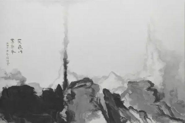 SU XINPING, Grey No. 19, 2016, Oil on canvas, 200 x 300 cm