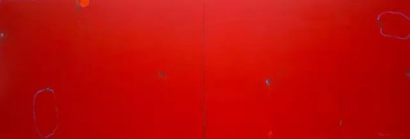TAN PING, Untitled, 2011, Acrylic on Canvas, 200 x 600 cm
