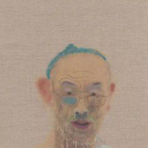 Wang Yuping, Self-portrait 06, 2017; acrylic on canvas, 108x53cm
