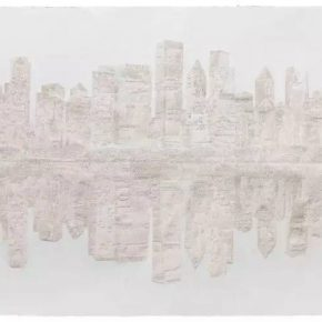 "02 Fu Xiaotong 478000 Pinpricks 2017 Painting handmade paper 157x200cm 290x290 - ""Limitless: New Works by Fu Xiaotong"" to be Presented at Chambers Fine Art in Beijing"