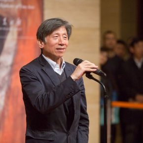 03 President of the Central Academy of Fine Arts Fan Di'an addressed the opening ceremony 290x290 - Awareness of Civilization: Exhibition of Artistic Works by Yuan Yunsheng Opened at the National Art Museum of China