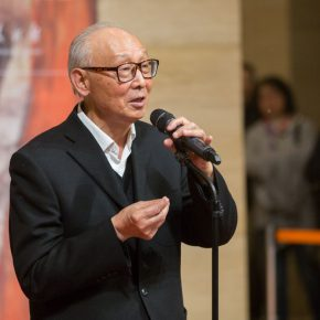 04 Prof. Shao Dazhen from the Central Academy of Fine Arts and the famous art critic addressed the opening ceremony 290x290 - Awareness of Civilization: Exhibition of Artistic Works by Yuan Yunsheng Opened at the National Art Museum of China