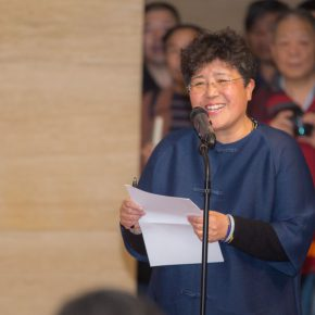 06 An Yuanyuan Deputy Director of the National Art Museum of China hosted the opening ceremony 290x290 - Awareness of Civilization: Exhibition of Artistic Works by Yuan Yunsheng Opened at the National Art Museum of China