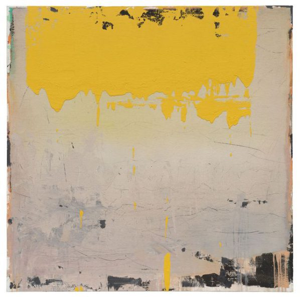 Feng Liangming, Yellow 16-18, 2016; Painting, 150x150cm