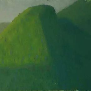 """Guo Haiqiang Fengyukou Qin Mountains 2016.4.5 1 2016 Oil on pastels on canvas panel 30x40cm 290x290 - Boers-Li Gallery announces """"Guo Haiqiang – Fengyukou, Qin Mountains"""" featuring his new paintings"""