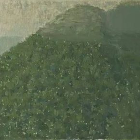 """Guo Haiqiang Fengyukou Qin Mountains 2016.4.5 2 2016 Oil on pastels on canvas panel 30x40cm 290x290 - Boers-Li Gallery announces """"Guo Haiqiang – Fengyukou, Qin Mountains"""" featuring his new paintings"""