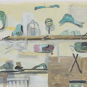 He Xun, My Rite, 2014; Oil on Paper, 29.5x59.5cm
