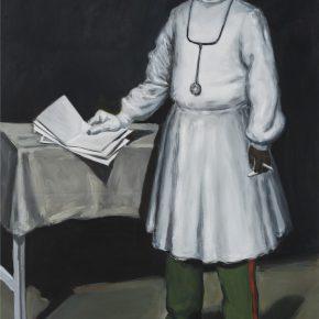 Liu Xia, Portrait 3, 2017; Oil on Canvas, 200x140cm