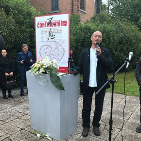 01 Curator of the exhibition Qiu Zhijie addressed the opening ceremony 2 290x290 - China Pavilion at the 57th Venice Biennale Opened
