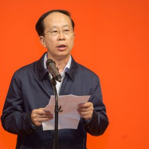 01 Zuo Zhongyi, Party Member of China Federation of Literary and Art Circles, Vice Chairman, Secretary of the Secretariat delivered a speech