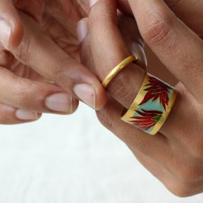 11 Double Ring 290x290 - Swiss Jewelry Artist Esther Brinkmann: Lost and Re-sought in the Cultural Jungle
