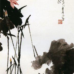26 Pan Tianshou, Lotus in Sunshine Figure, Chinese painting, 161.5 × 99 cm, 1964