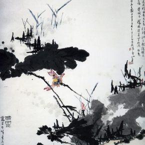27 Pan Tianshou, Sunny Sunset Figure, Chinese ink painting, 178.5 x 148 cm, 1961