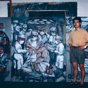 28 Zeng Fanzhi in 1991, photography, variable size, 1991