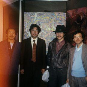 29 Wang Keping, Qiu Deshu, Yuan Yunsheng, Bai Jingzhou in Boston, photography, 1982