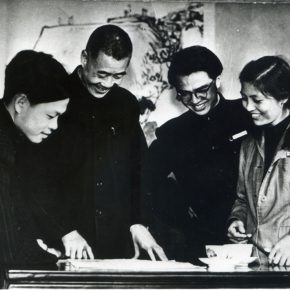 43 Pan Tianshou and the students of the Department of Chinese Painting were at the house in Jingyun Village, Hangzhou, in the 1950s