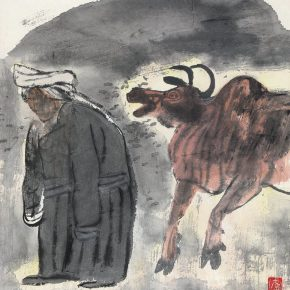 45 Lu Chen,The Old Mongolian Woman and a Cattle