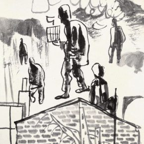 46 Lu Chen, a draft of the Figures with Cages