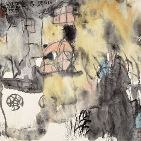 62 Lu Chen Spring in the Garden ink and color on paper 32.5 x 35 cm 1991 290x290 - Lu Chen