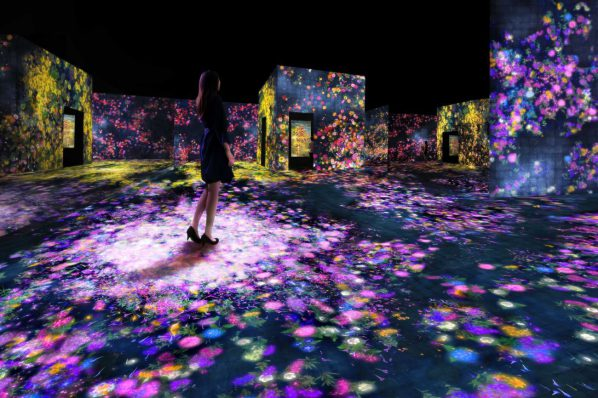 Flower Forest Lost, Immersed and Reborn; teamLab, 2017, Interactive Digital Installation, Endless, Sound: Hideaki Takahashi