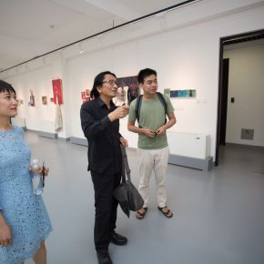 01 From left to right artist Wang Jing Su Xinping Vice President of the CAFA artist Ding Ning 290x290 - The First Exhibition of CAI Young Artist Laboratory: Self – Awareness and Artistic Expression