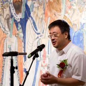 04 Bi Jianxun Dean of CAFA's College of Continuing Studies delivered a speech 290x290 - The Way of Further Education: CAFA 2017 Graduation Exhibition of Outstanding Works by Trainees Opened