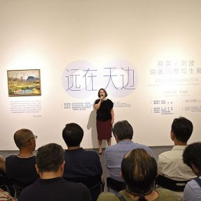 04 Chen Meiling, the curator of the exhibition delivered a speech