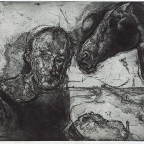 "04 Hou Weiguo Its LowSound Has Awakened Kafka copperplate etching 125x100cm 2016 290x290 - Hou Weiguo: Thinking about Mankind's Problems with ""Looking at a Horse to Judge Its Worth"""