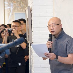 05 Feng Haitao Deputy Dean of CAFA's College of Continuing Studies presided over the opening ceremony of the exhibition 290x290 - The Way of Further Education: CAFA 2017 Graduation Exhibition of Outstanding Works by Trainees Opened
